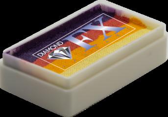 RS30-12 - Papaya Party SPLIT CAKES Medium size Diamond Fx