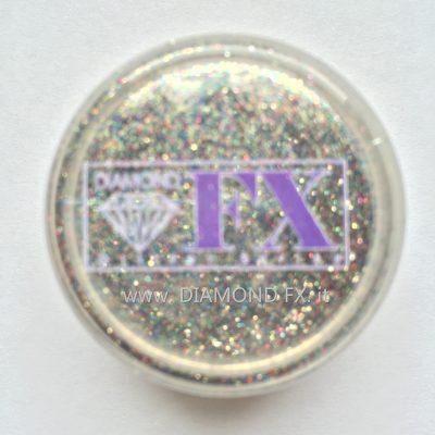 GL07 - Glitter ARGENTO CRISTAL Cosmetico Diamond Fx 5 Gr.