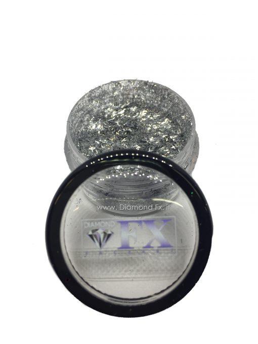 GL22 - Glitter FIBRE ARGENTO Cosmetico Diamond Fx 5 Gr.